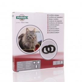 Installation Adaptor for Petsafe Microchip & 4 Way Cat Flap - Brown