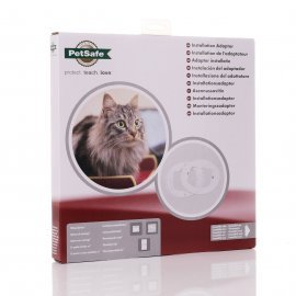 Installation Adaptor for Petsafe Microchip & 4 Way Cat Flap - White