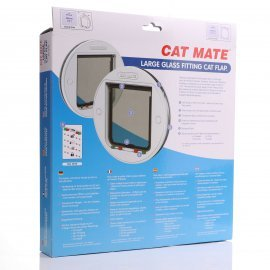 Cat Mate 357 Large Cat Small Dog Glass Fitting Cat Flap CatMate