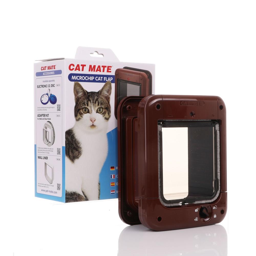 PetMate - Cat Mate Microchip 360 Cat Flap - Brown CatMate