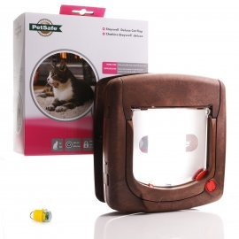 Petsafe Infrared Cat Flap - 520 - Brown Yellow Key