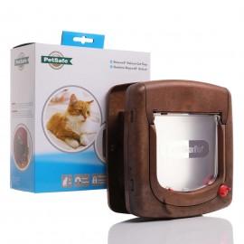 Staywell 420 Deluxe Magnetic Cat Flap -  Woodgrain by PetSafe