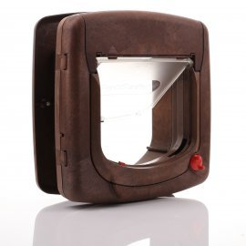 Infrared Cat Flap Brown - Staywell 520 - Blue Key by PetSafe