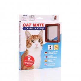 Cat Mate Standard Locking  - 234 Brown - With Door Liner