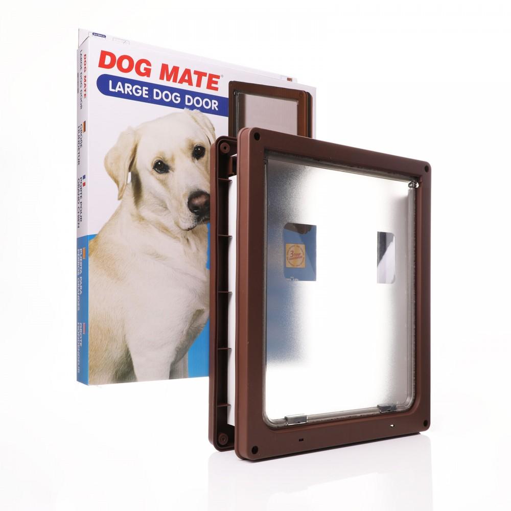 Dog Mate 216 Large Dog Door - Brown