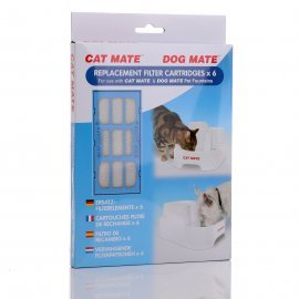 (x 6) Filters Petmate Water Fountain Replacement Filter Cartridge