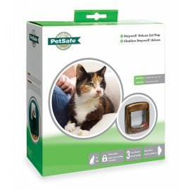 Staywell Deluxe 4 Way Locking Cat Flap 320 - Brown -  by PetSafe