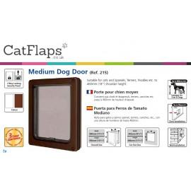 Dog Mate 215 Medium Dog Flap - Brown