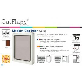 Dog Mate 215 Medium Dog Door - White