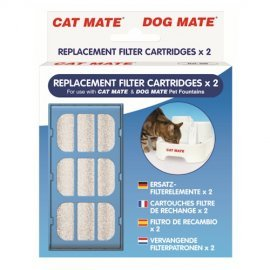 Petmate Water Fountain Replacement Filter Cartridge (Pack of 2)