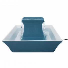 PetSafe Drinkwell Pagoda  Ceramic Cat Fountain Blue