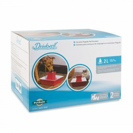 Drinkwell® Pagoda Ceramic Fountain Dogs Or Cats Red
