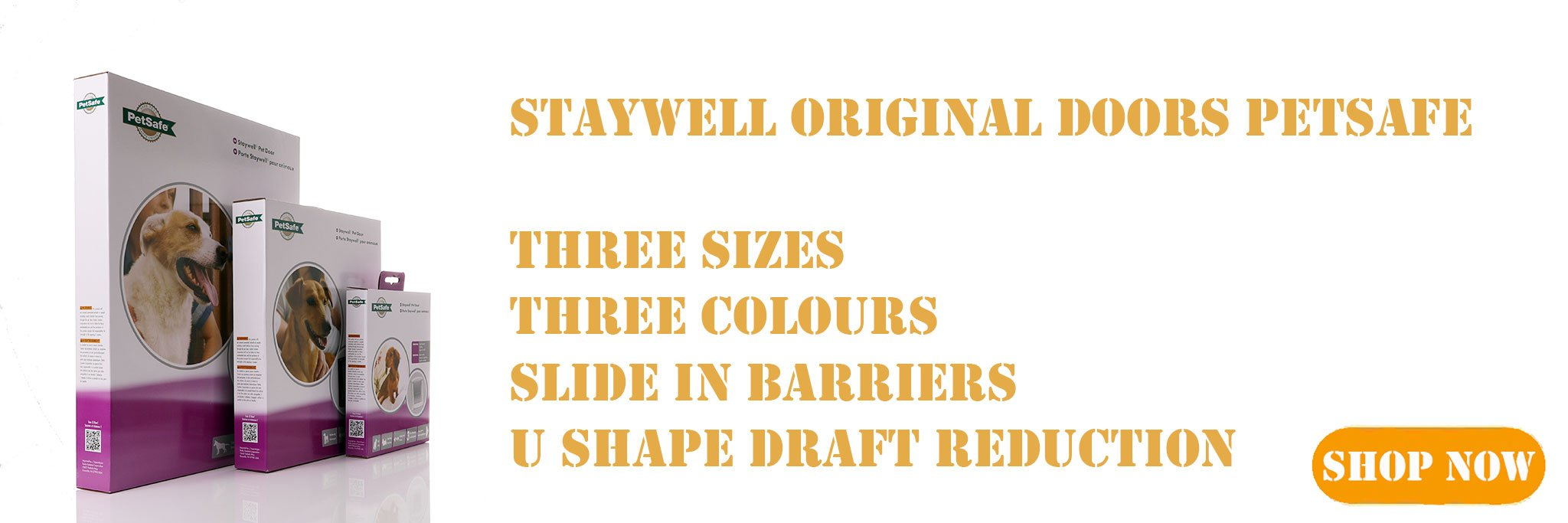 The staywell original doors come in thre colours white brown and grey