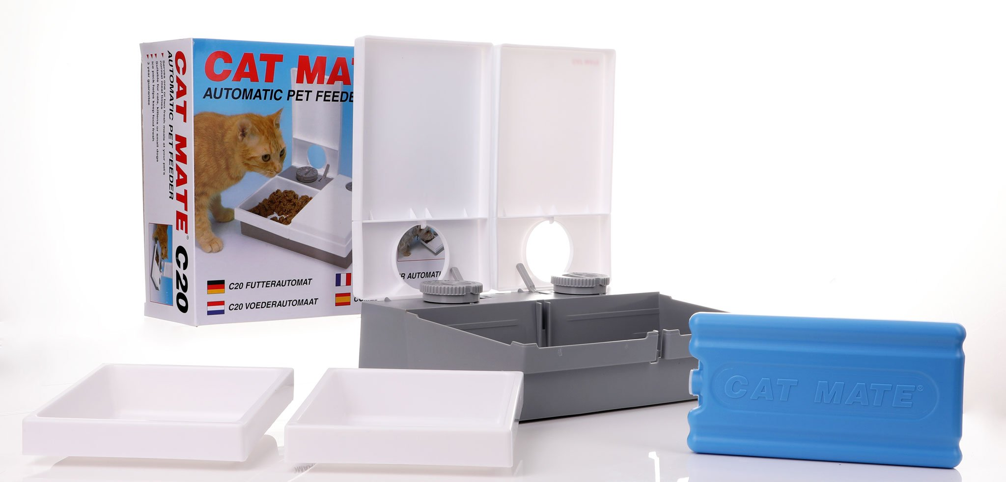 automatic cat feeder supplied with feeding trays and a freezer...</div> </div>      <div class=