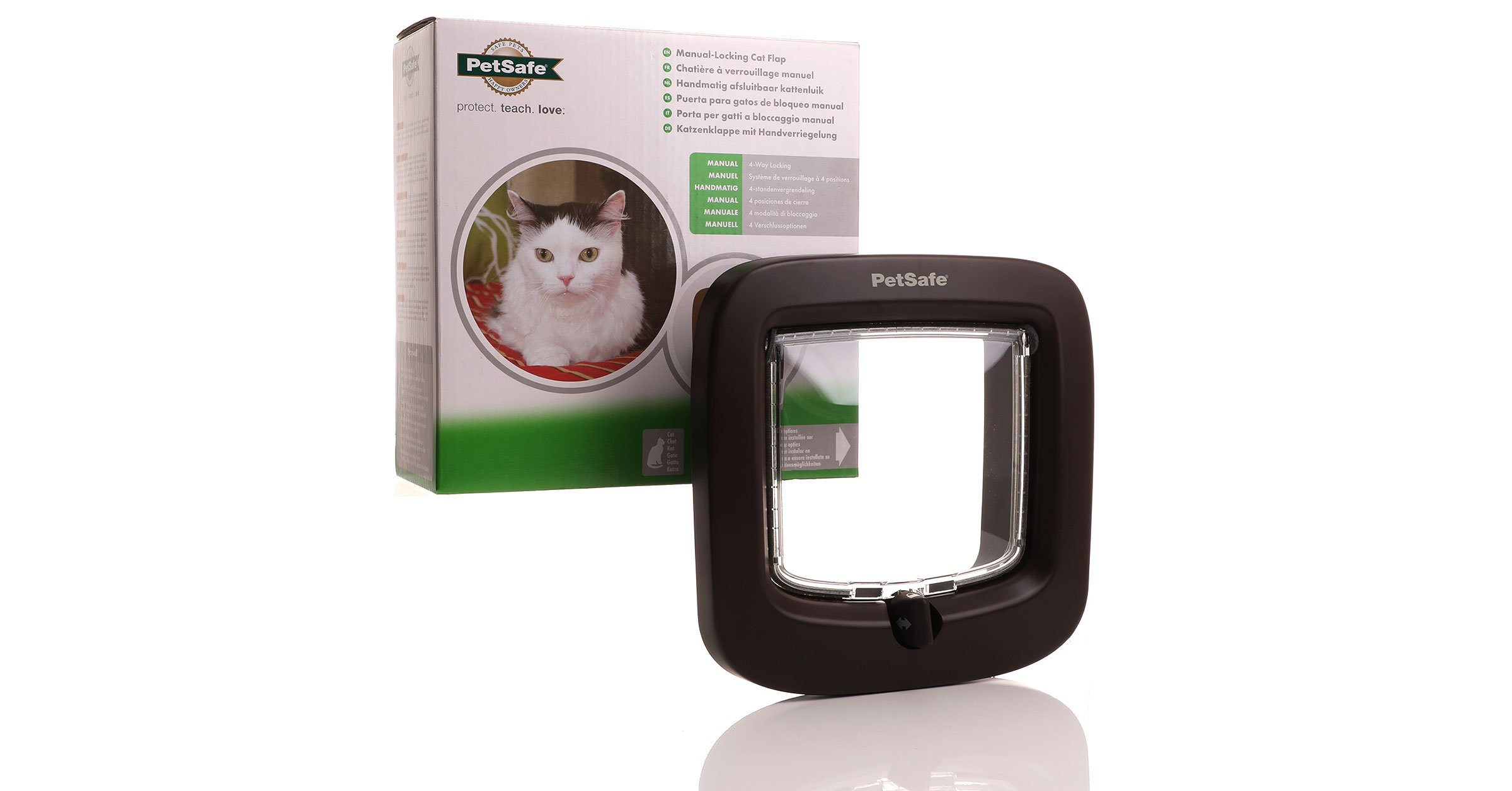 Latest version the Staywell brown cat flap from PetSafe