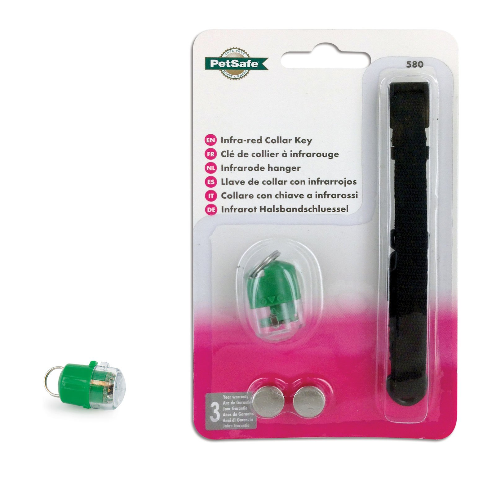 Spare Extra green PetSafe Key and Batteries