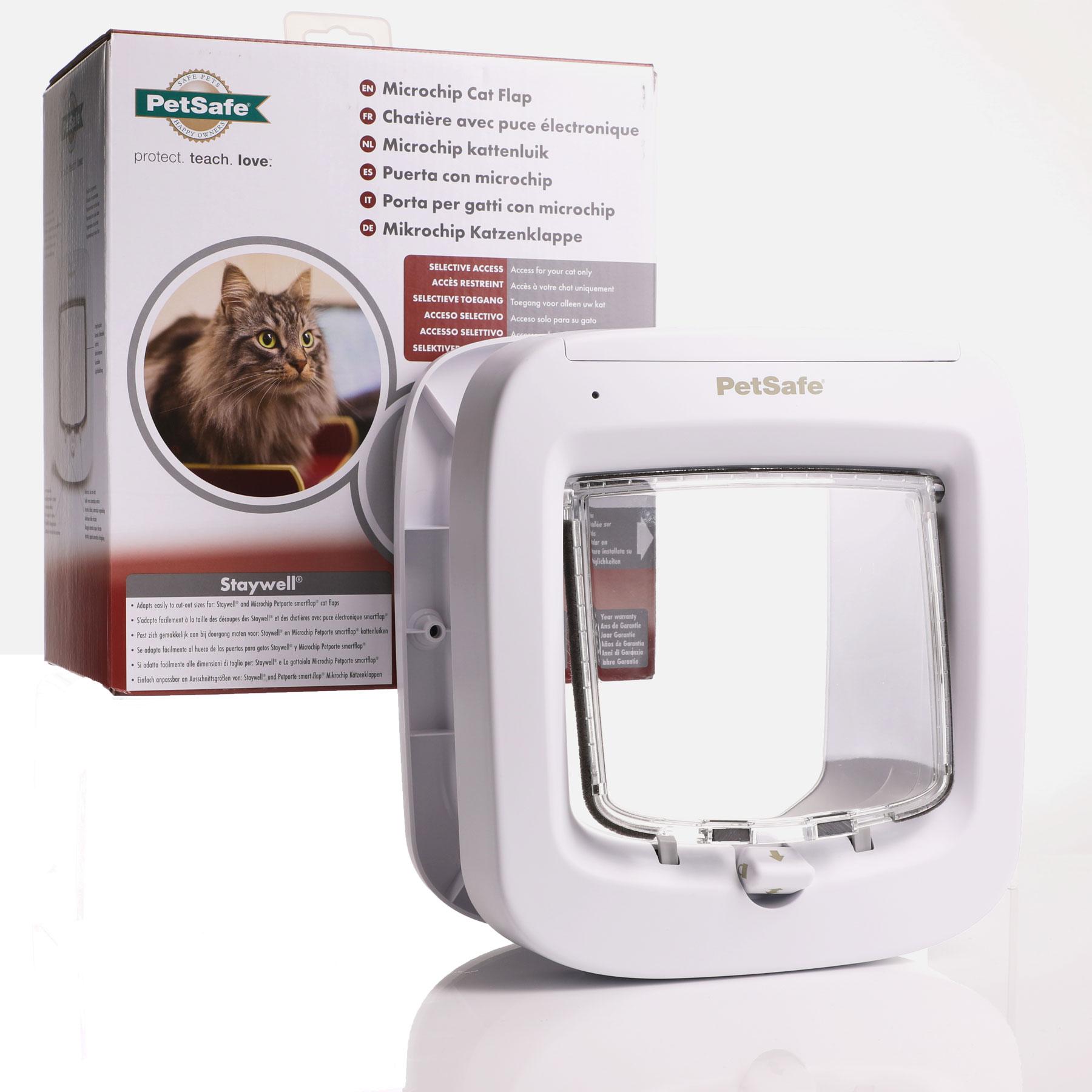 Microchip cat flap door in white from PetSafe Staywell