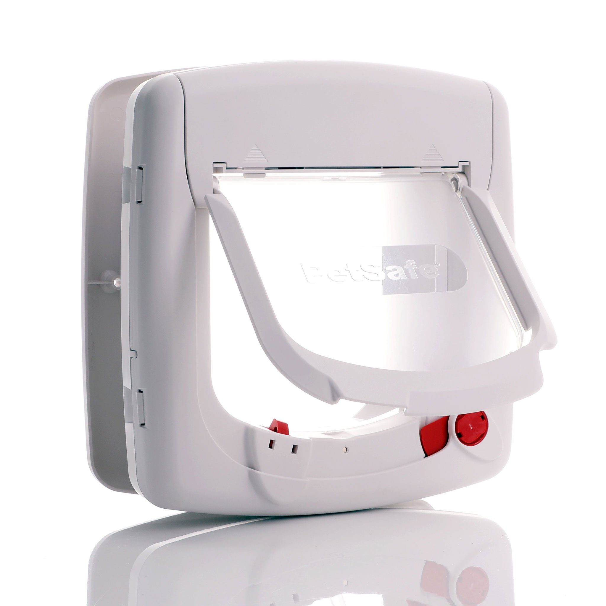 Staywell magnetic cat flap 400 white