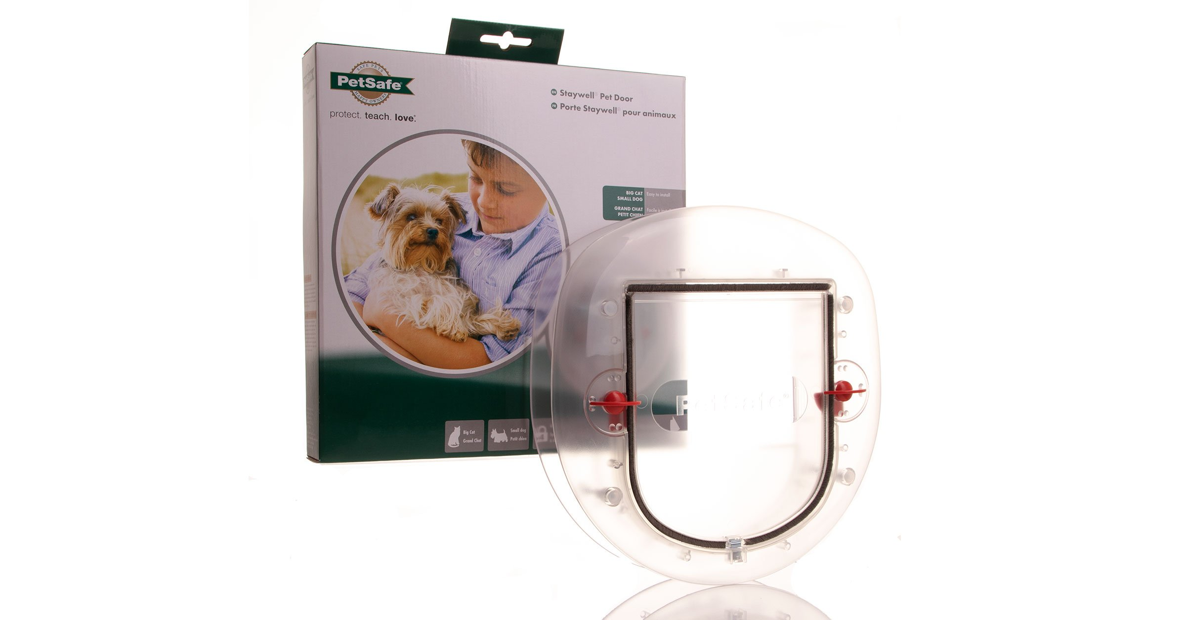 270 clear cat flap suits big cats and lots of installation options.