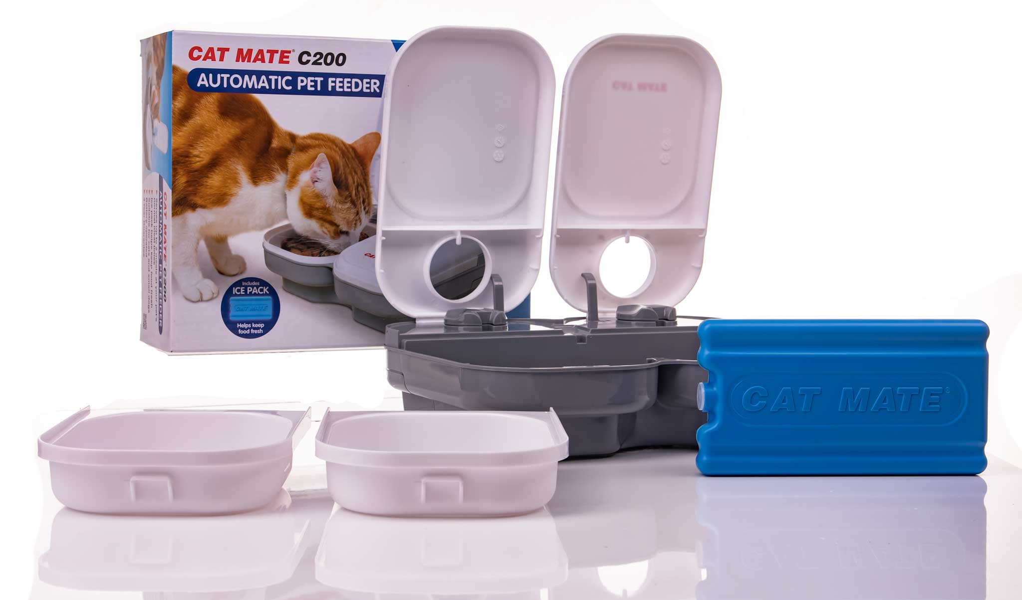 automatic cat feeder supplied with feeding trays and a free...</div> </div>      <div class=