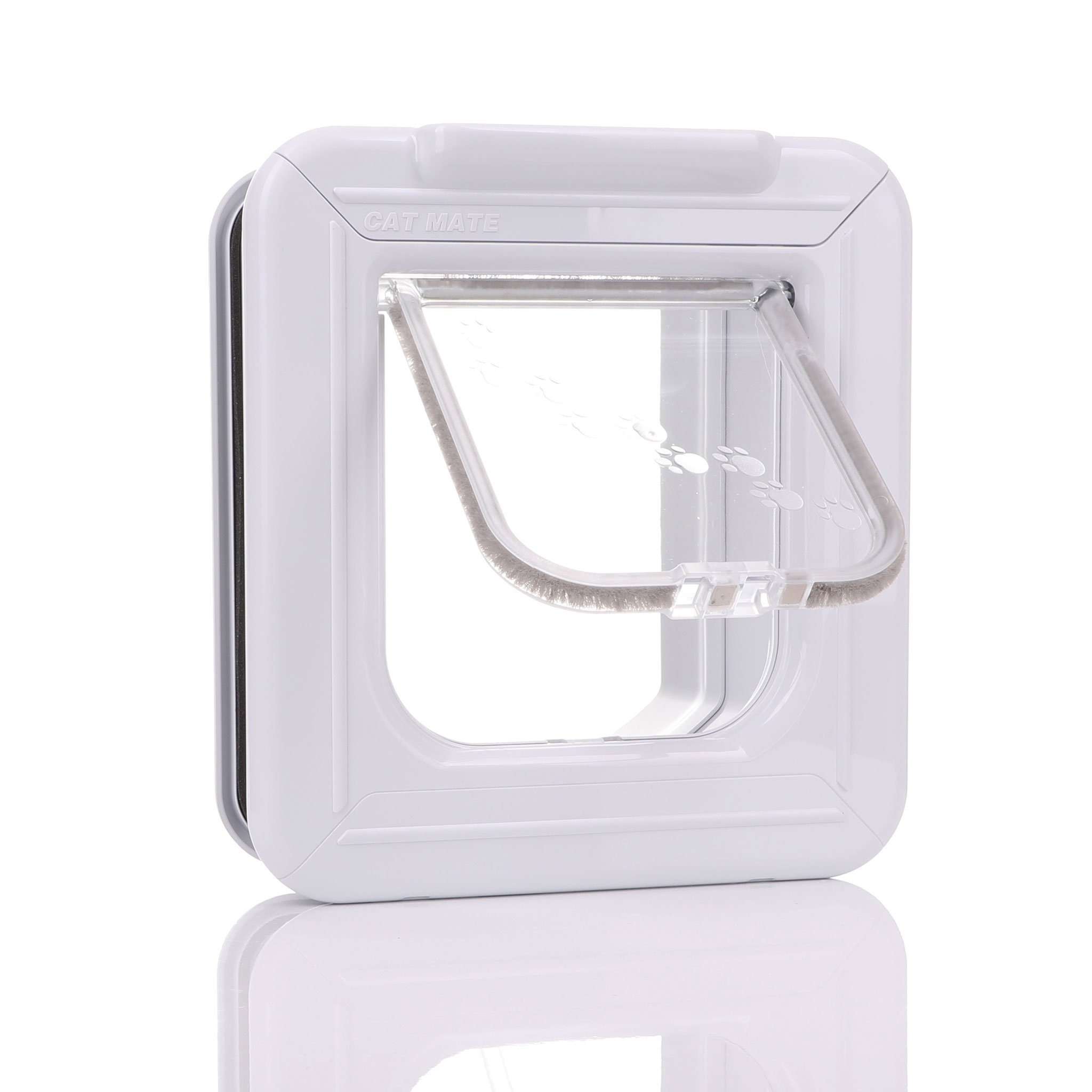 White frame with a clear flap designed with time control