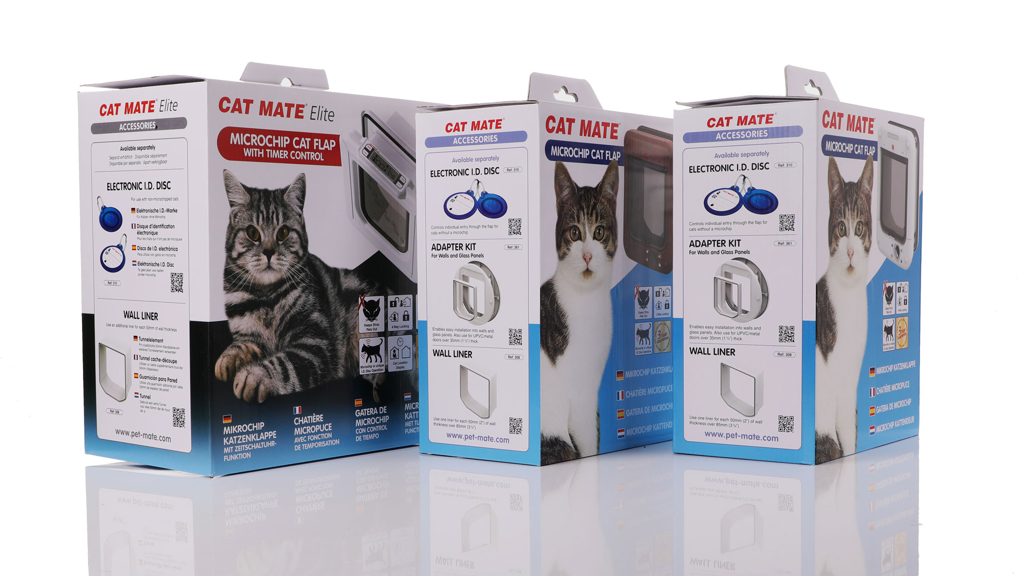 Microchip operated cat doors from Cat mate