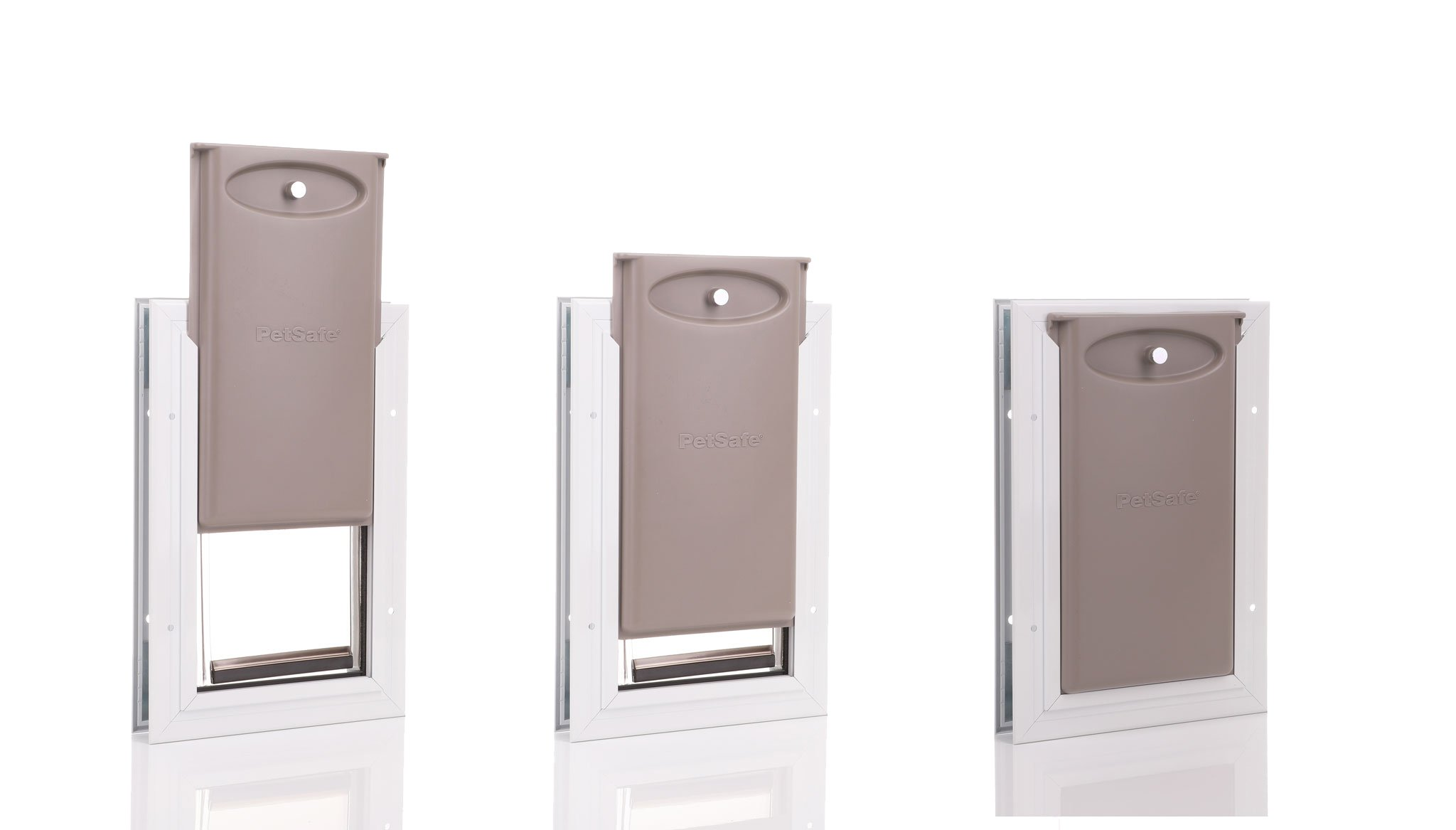 Internal panel for locking the small dog door from PetSafe