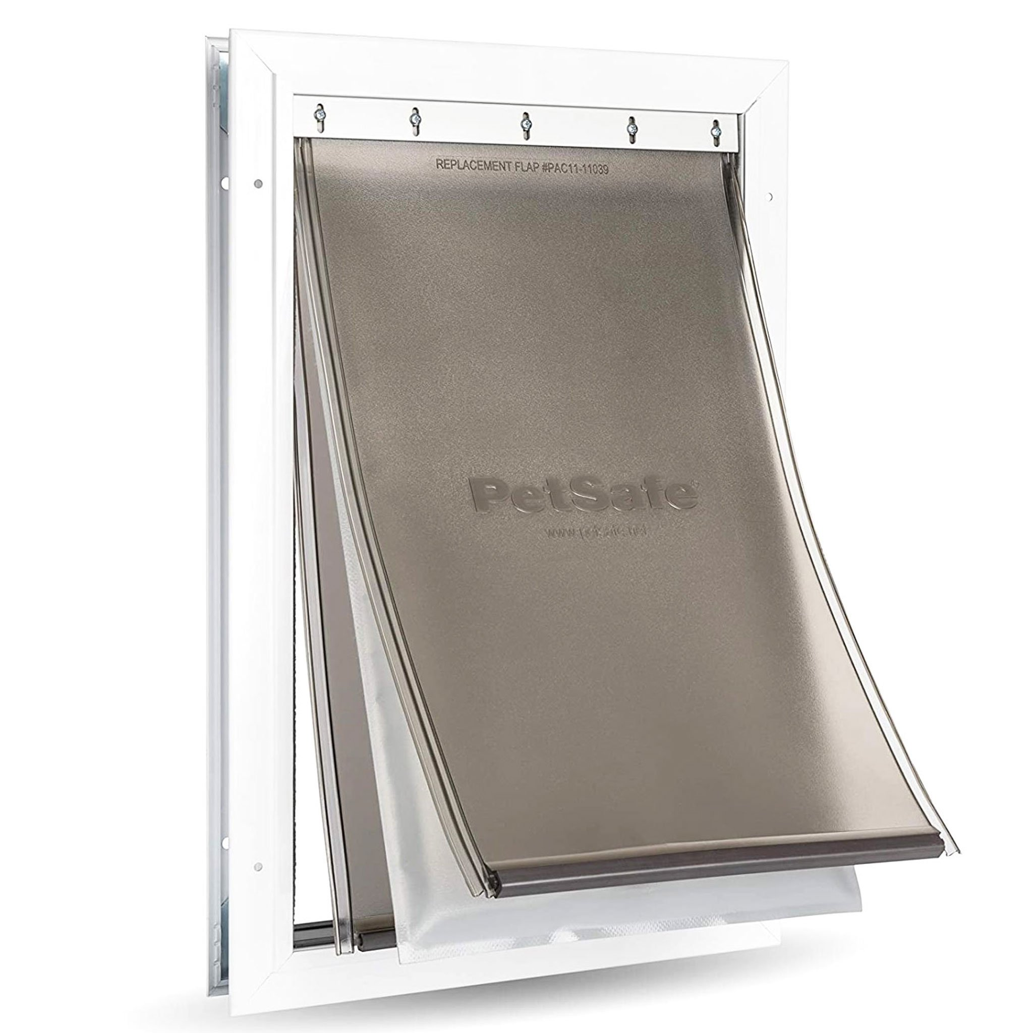 Triple flaps inside the frame with an insulated flap to reduce heat loss.