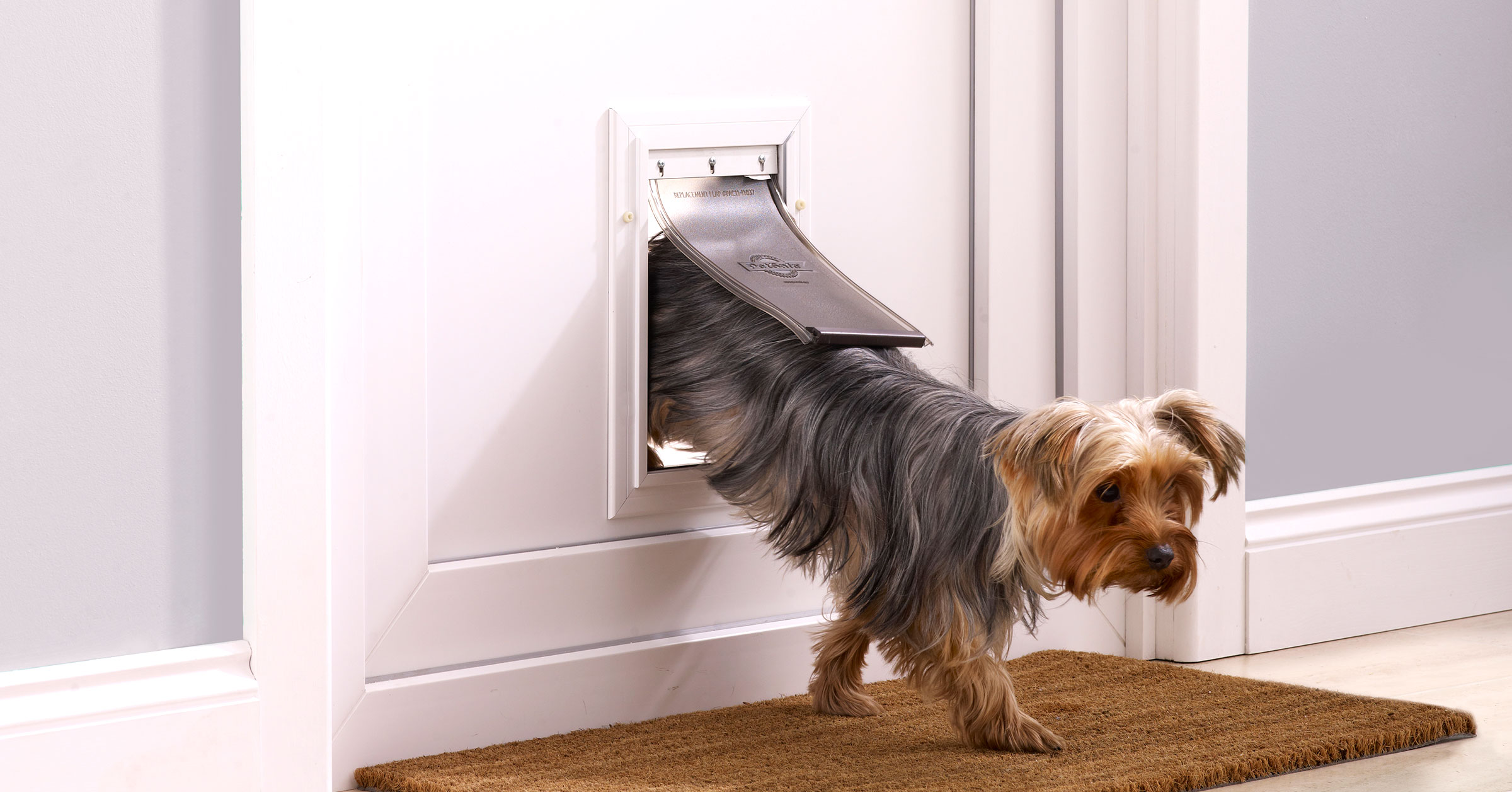 Range of dog flaps from small to extra large