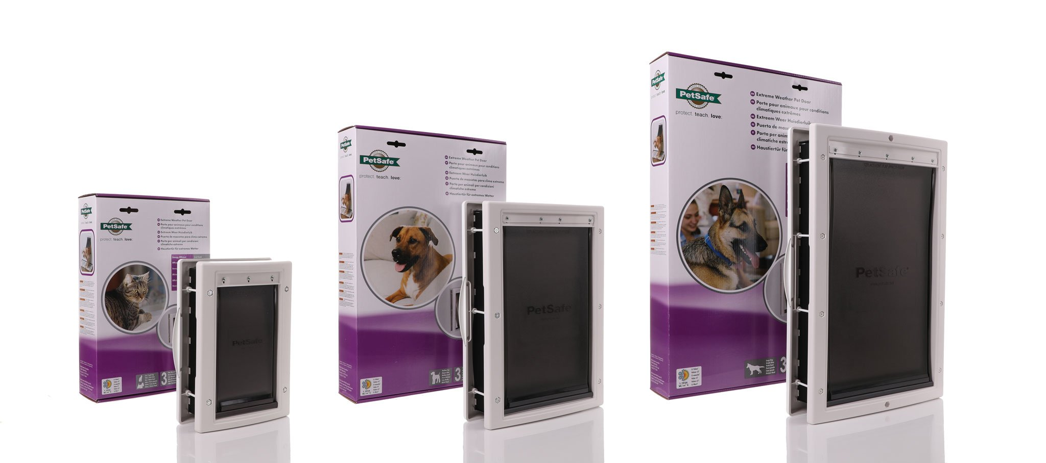 double flaps and internal insulation a dog door designed to keep the cold out.