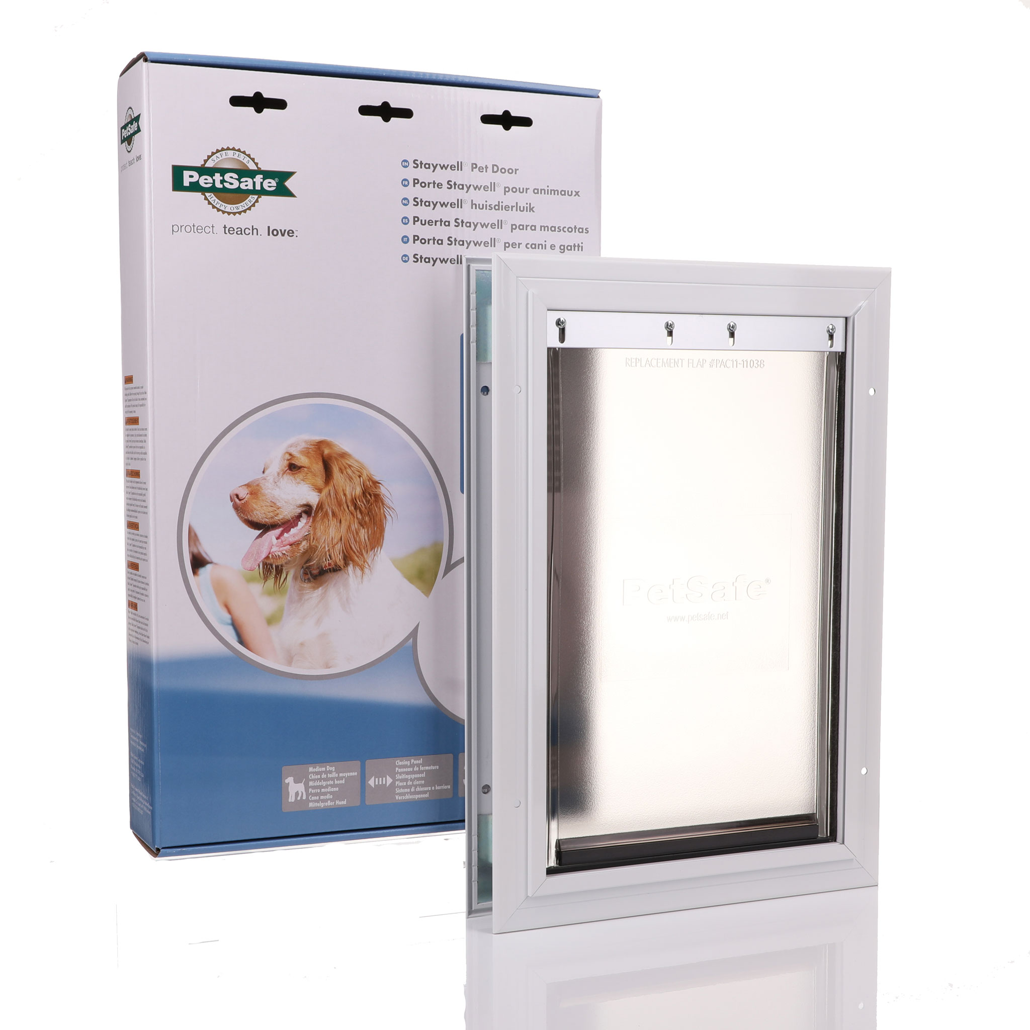 Aluminium framed dor flap with a flexible rubber door medium.