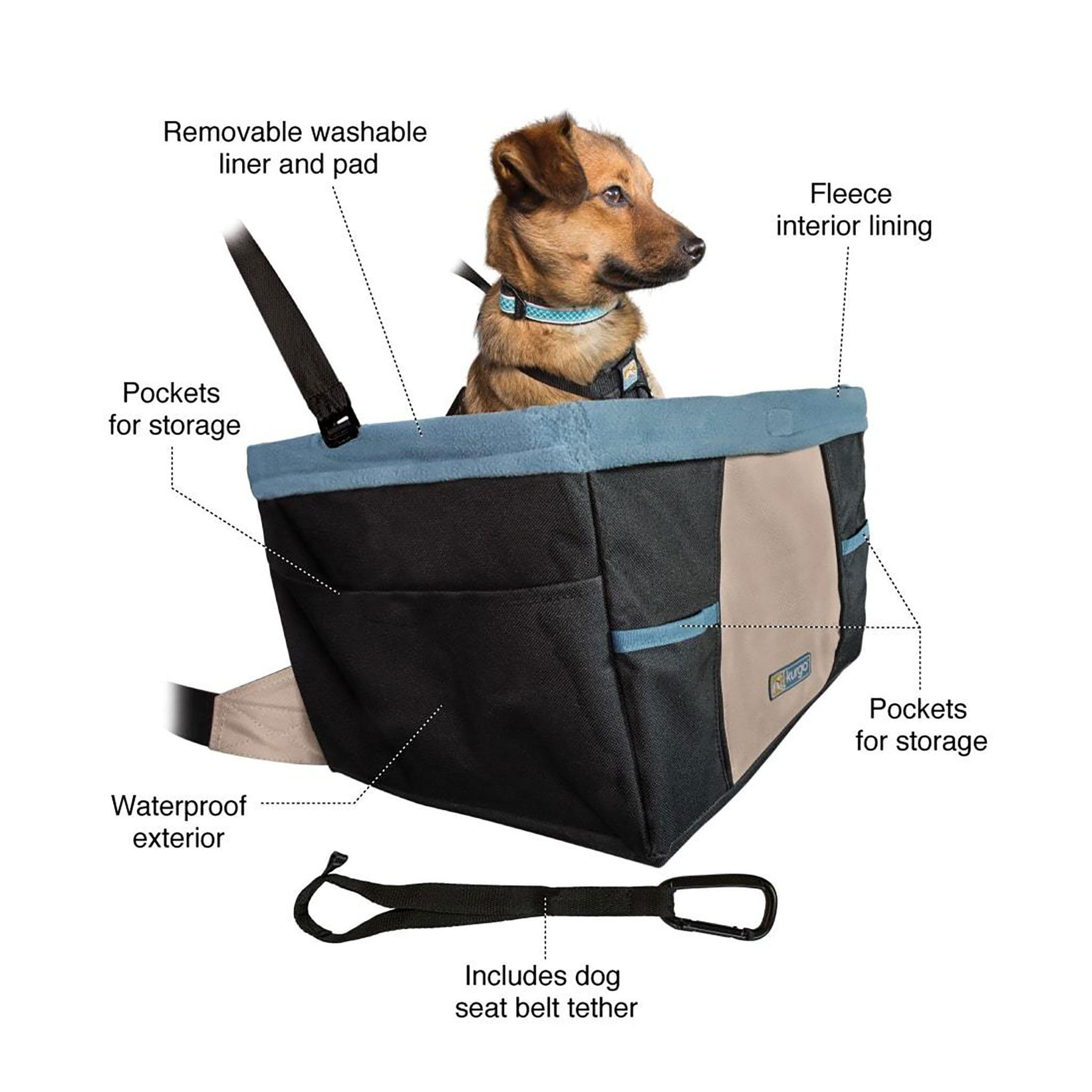 Simple safe lets your dog see out of the window to enjoy the ride