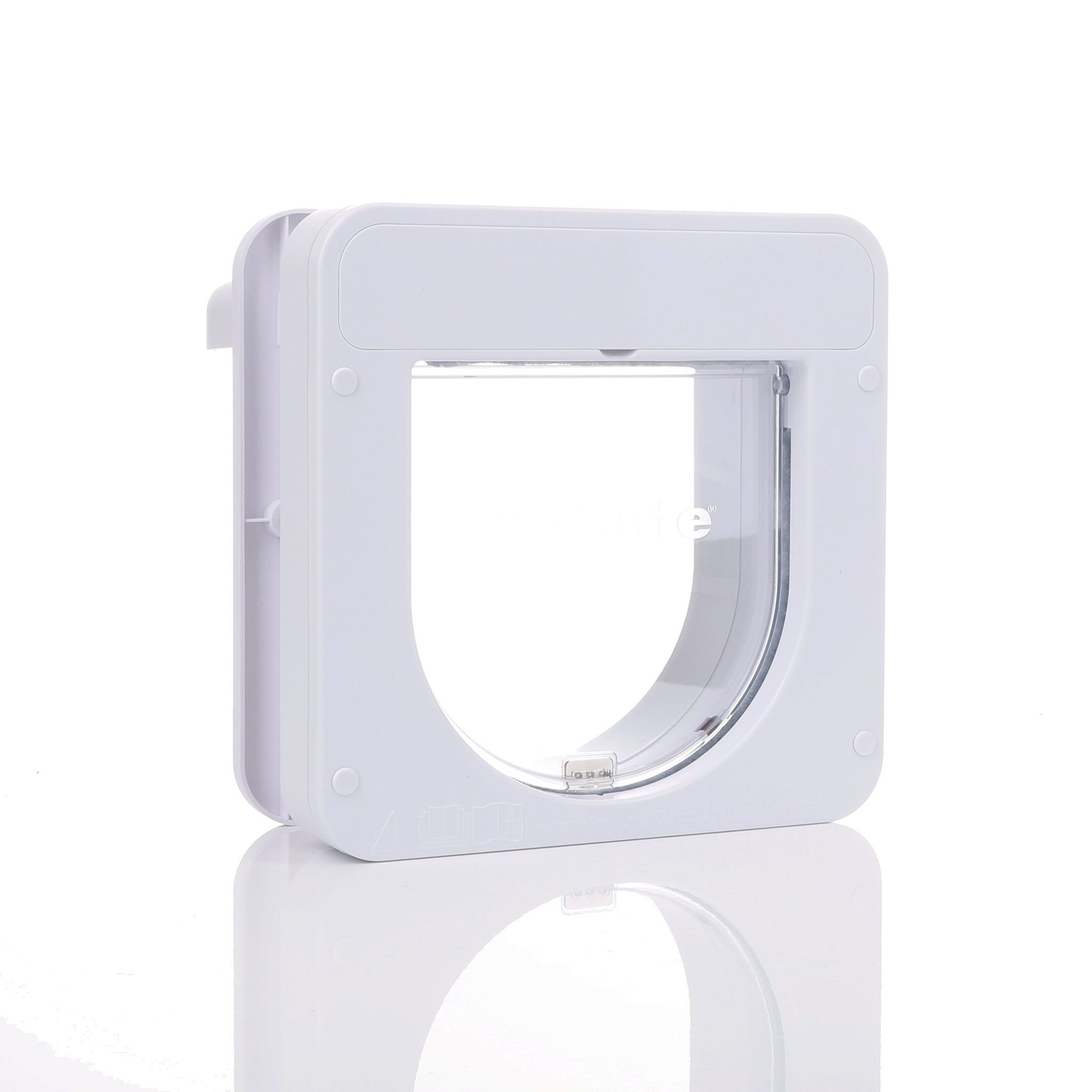 PetPorte Smart Cat Flap White Frame Clear Flap