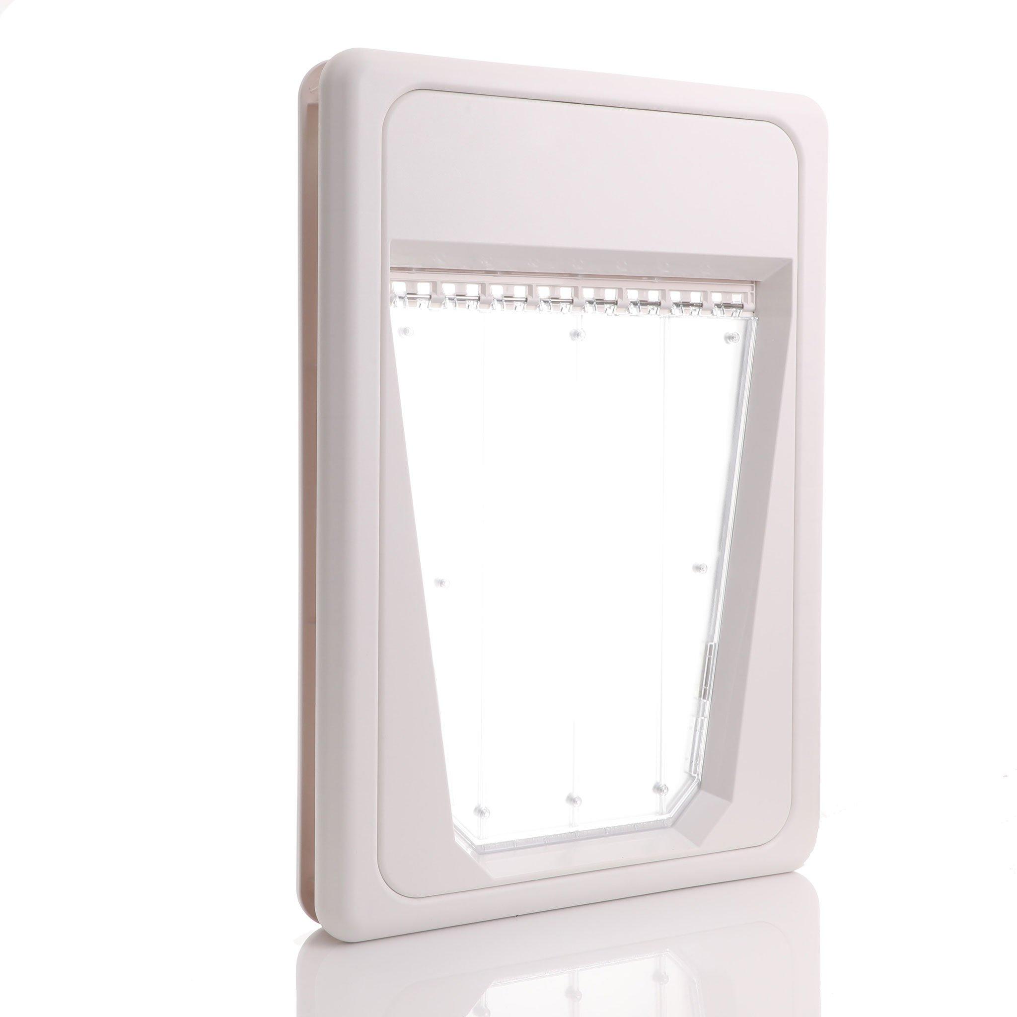 Electronic door external view v shape flap